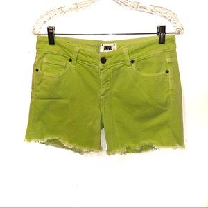 Paige Neon Jimmy Jimmy Short Cut Off Denim